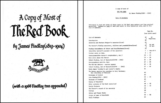Scan of Red Book cover pages