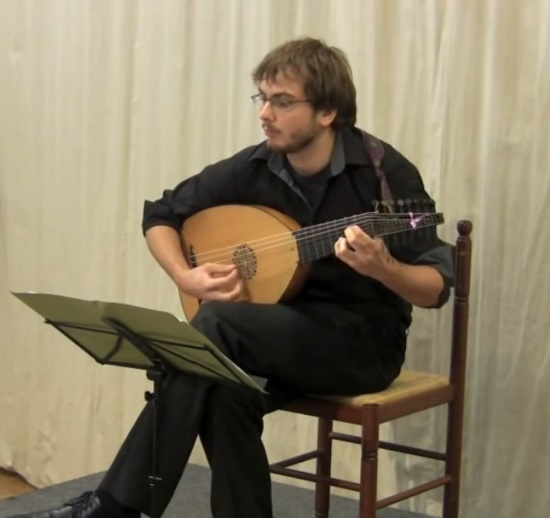 Simon playing lute